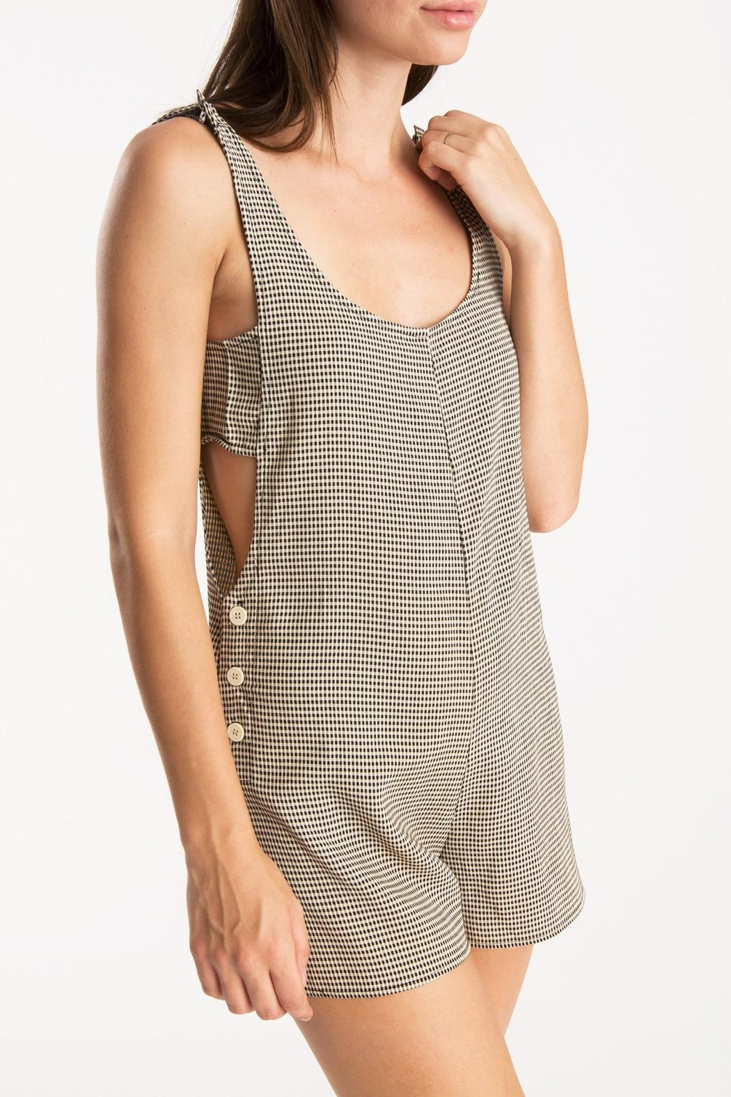 Whimsy and Row Gingham Kira Romper - Main Image