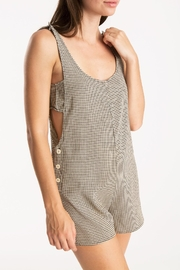 Whimsy and Row Gingham Kira Romper - Front cropped