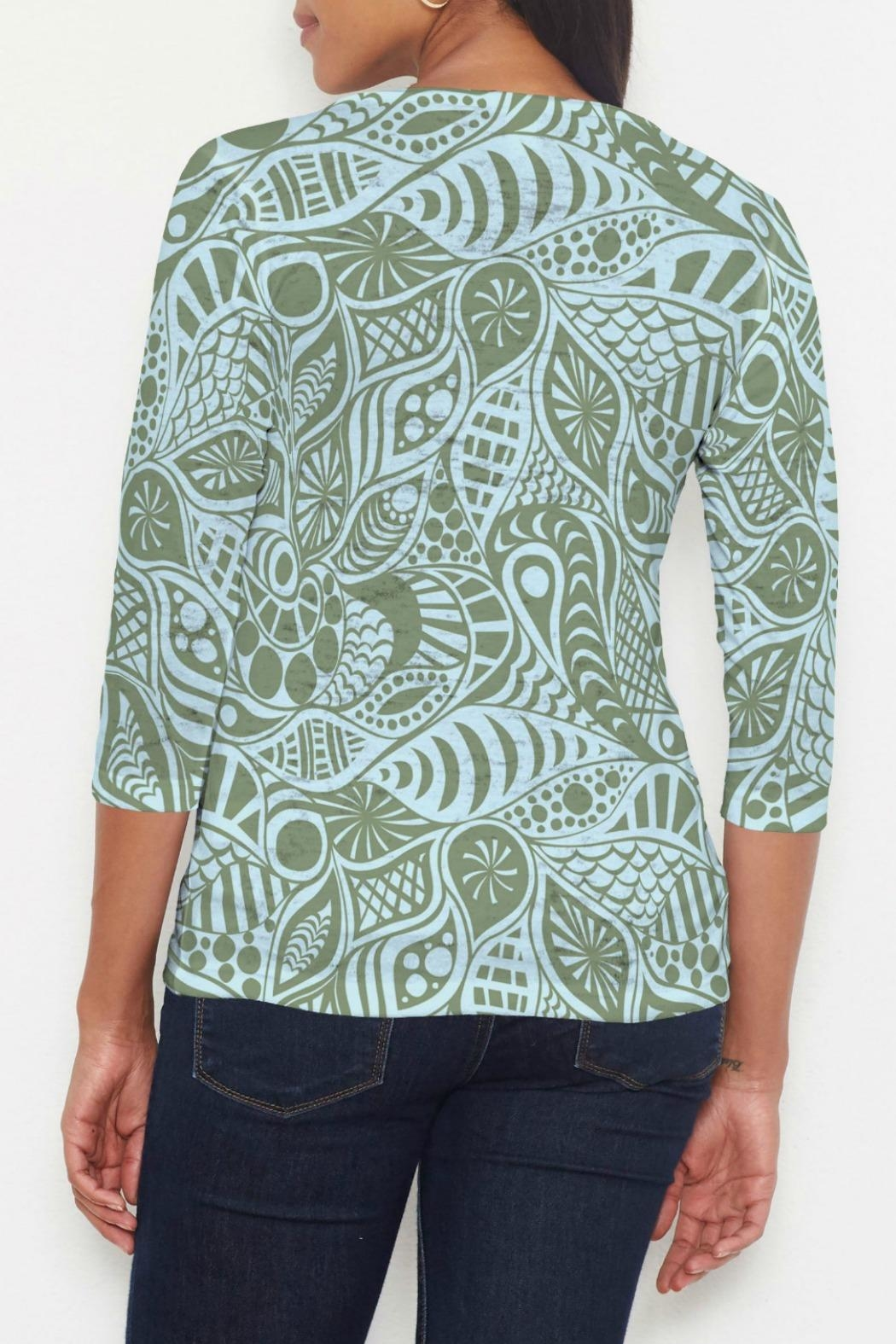 Whimsy Rose Aquatic Green T - Front Full Image