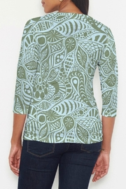 Whimsy Rose Aquatic Green T - Front full body