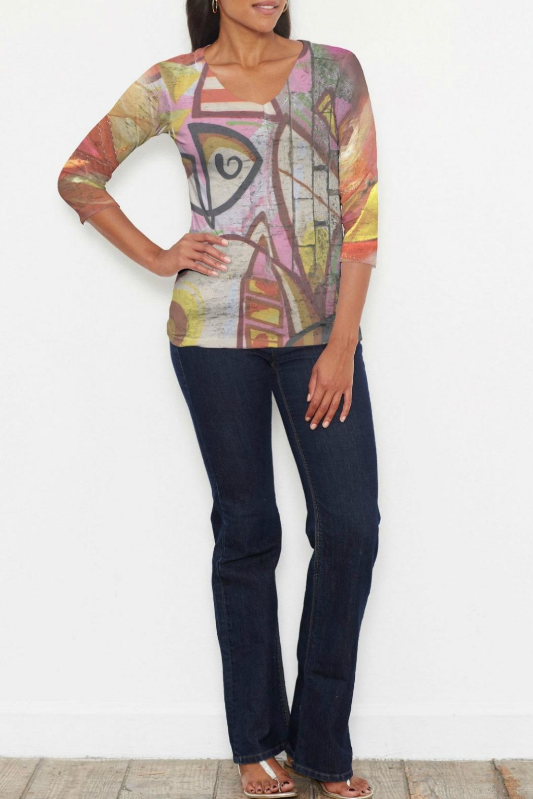 Whimsy Rose Barcelona Sleeve Top - Main Image