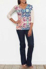 Whimsy Rose Eden Navy Top - Product Mini Image