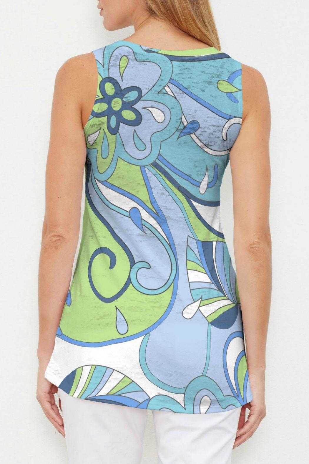 Whimsy Rose Floral Spritz Tank - Front Full Image