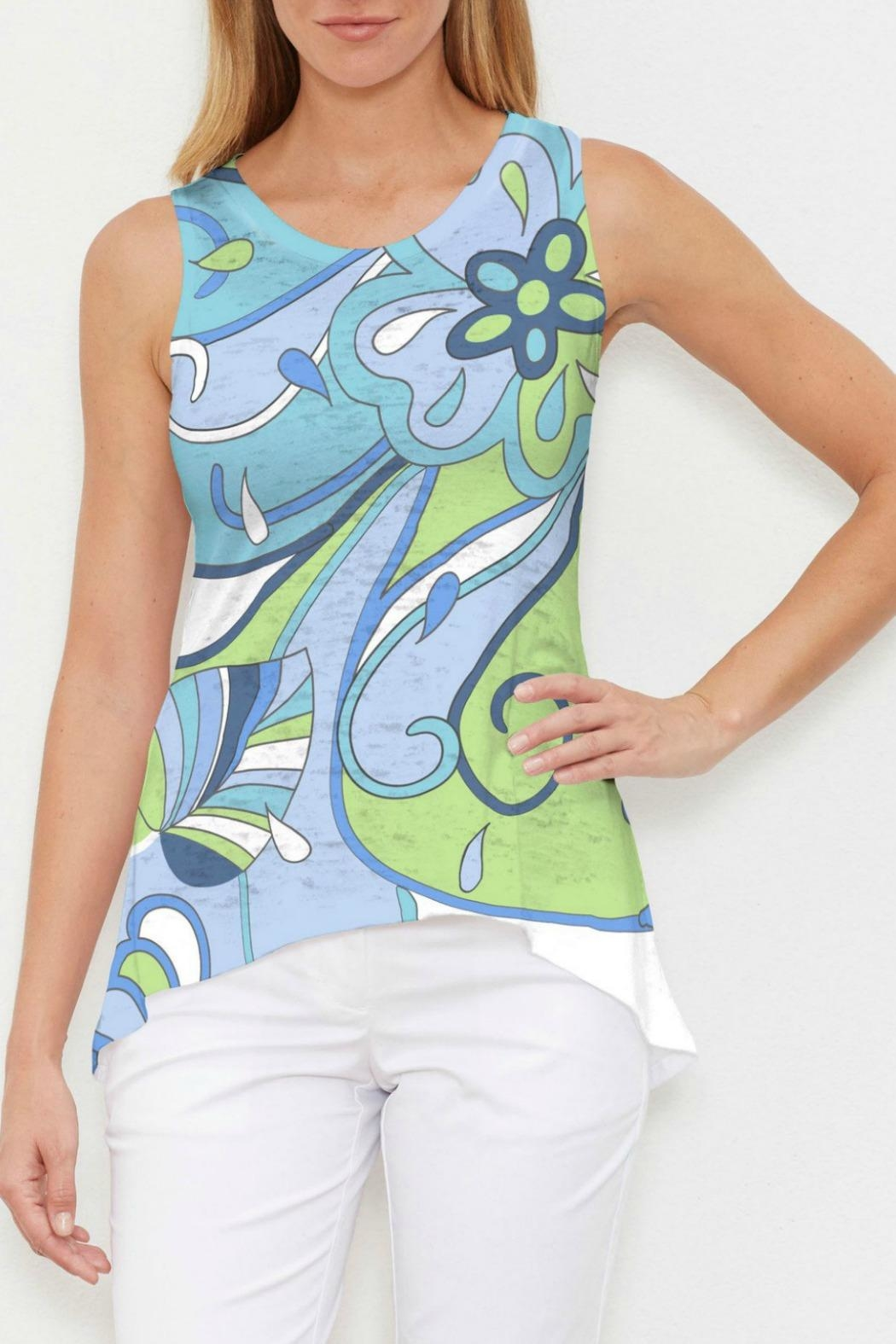 Whimsy Rose Floral Spritz Tank - Main Image