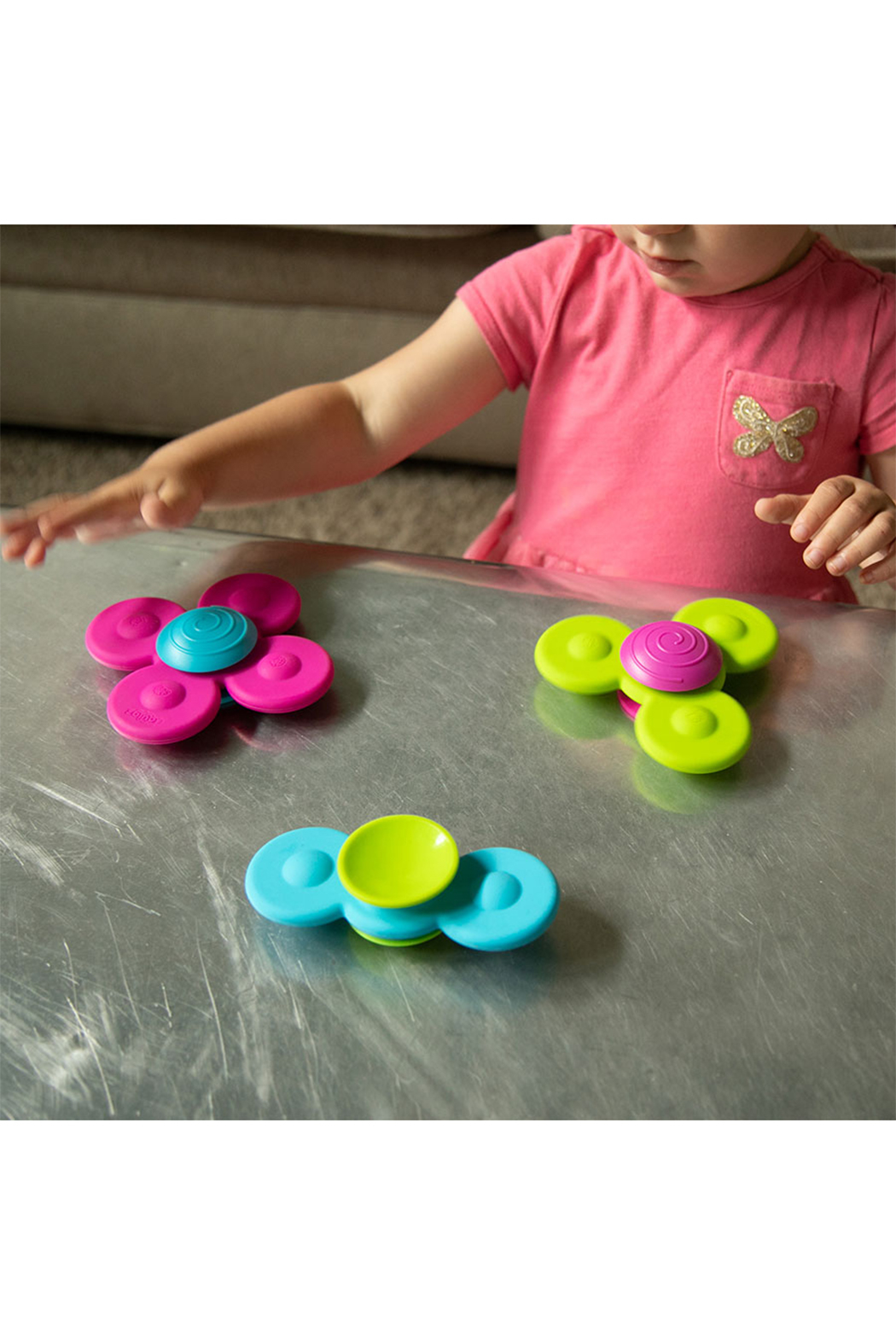 Fat Brain Toys Whirly Squigz Fun Little Spinners - Main Image