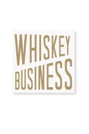 CR Gibson Whiskey Business Napkins - Front cropped