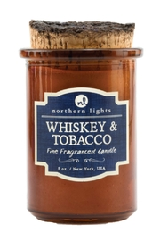 Northern Lights Whiskey Tobacco Candle - Front cropped