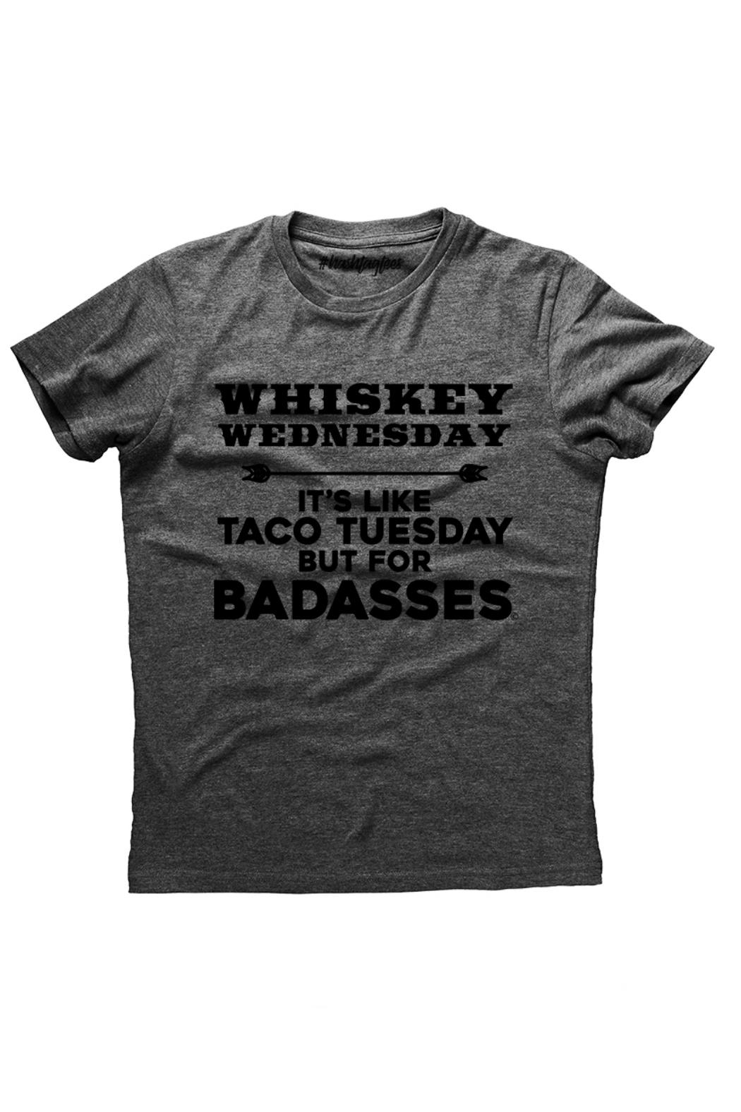 Hashtag Tees Whiskey Wednesday Tee - Front Cropped Image