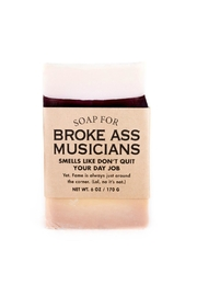 WHISKEY RIVER SOAP CO. Broke Musician Soap - Front cropped