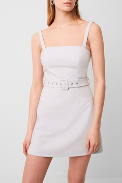 Shoptiques Product: Whisper Belted Straight Neck Dress