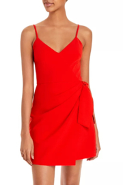 French Connection Whisper Faux Wrap Bow Dress - Product Mini Image