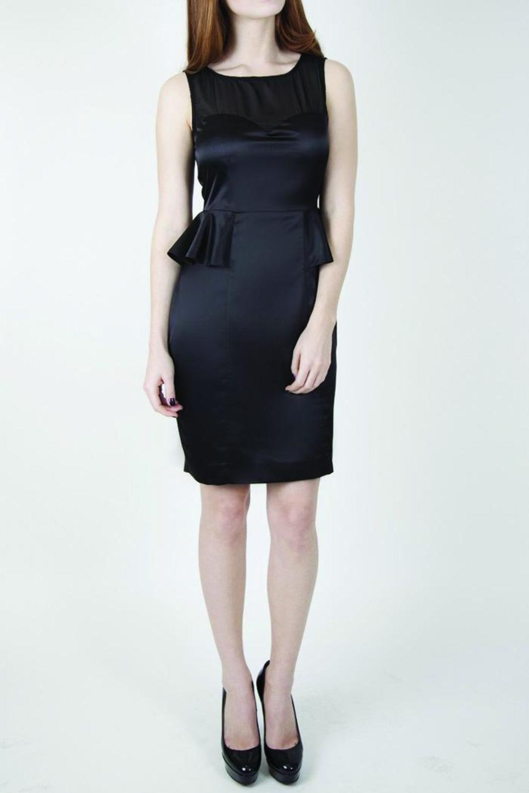 Whistle and Wolf Black Peplum Dress - Main Image