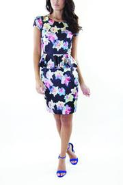 Whistle and Wolf Floral Peplum Dress - Front cropped