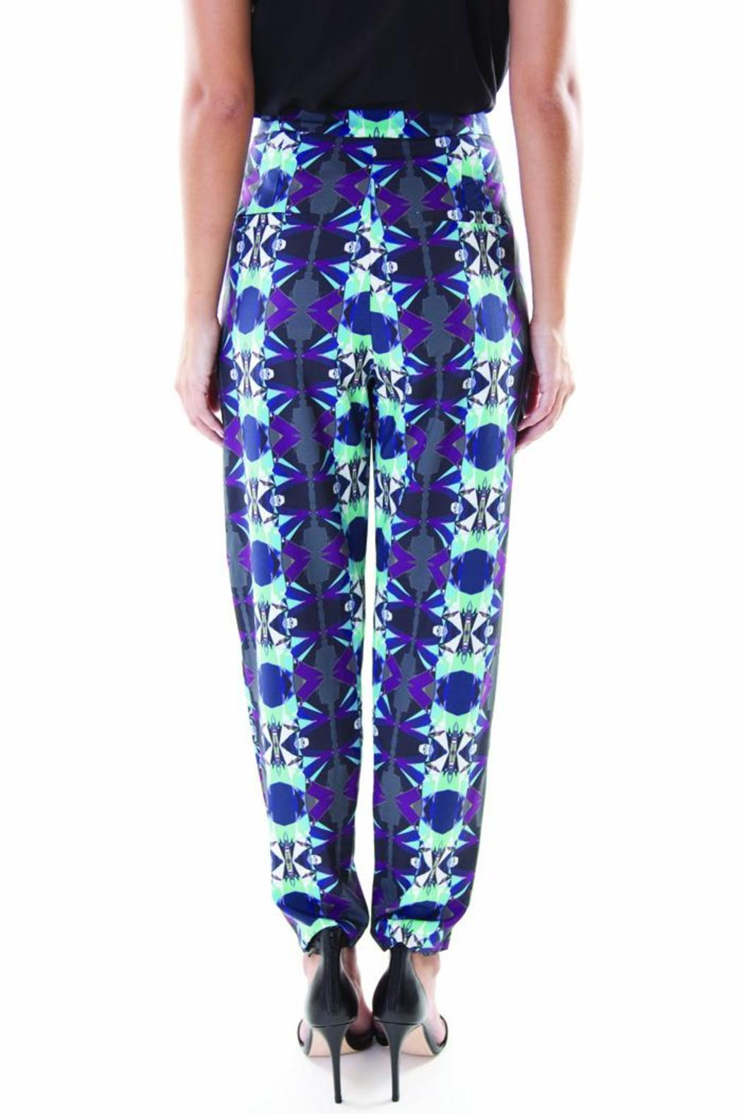 Whistle and Wolf Geo-Print Pant - Side Cropped Image