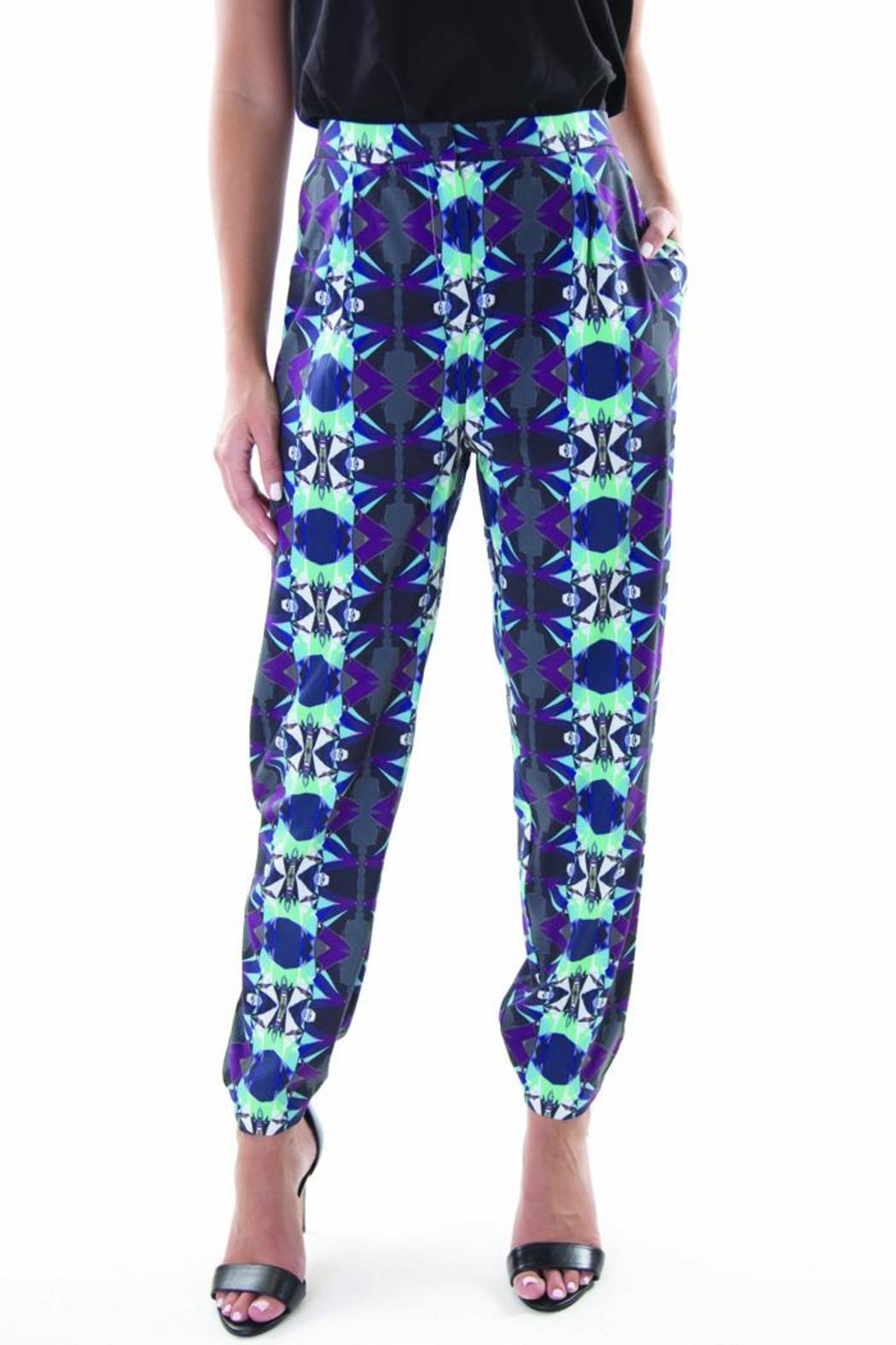 Whistle and Wolf Geo-Print Pant - Main Image