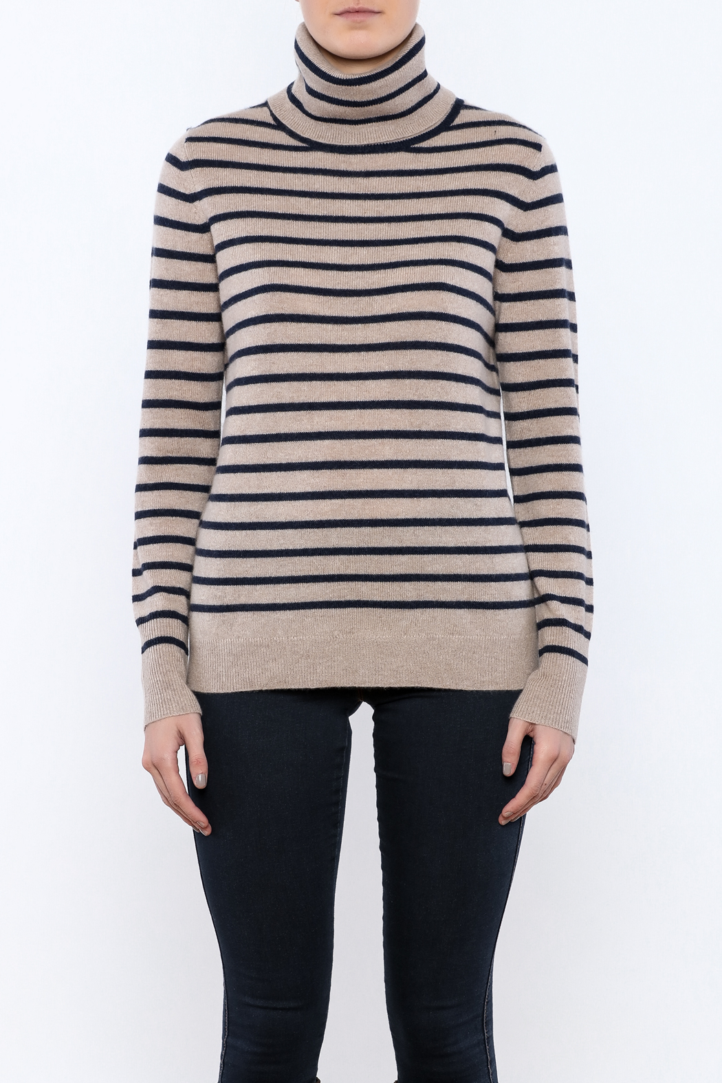 White   Warren Cashmere Turtleneck Sweater from Virginia by The ...
