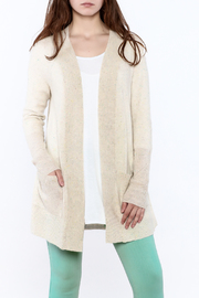 White + Warren Confetti Cashmere Pointelle Cardi - Product Mini Image