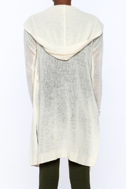 White + Warren White Cashmere Cardigan - Back cropped