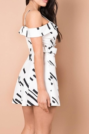 A Peach White Abstract Dress - Front full body