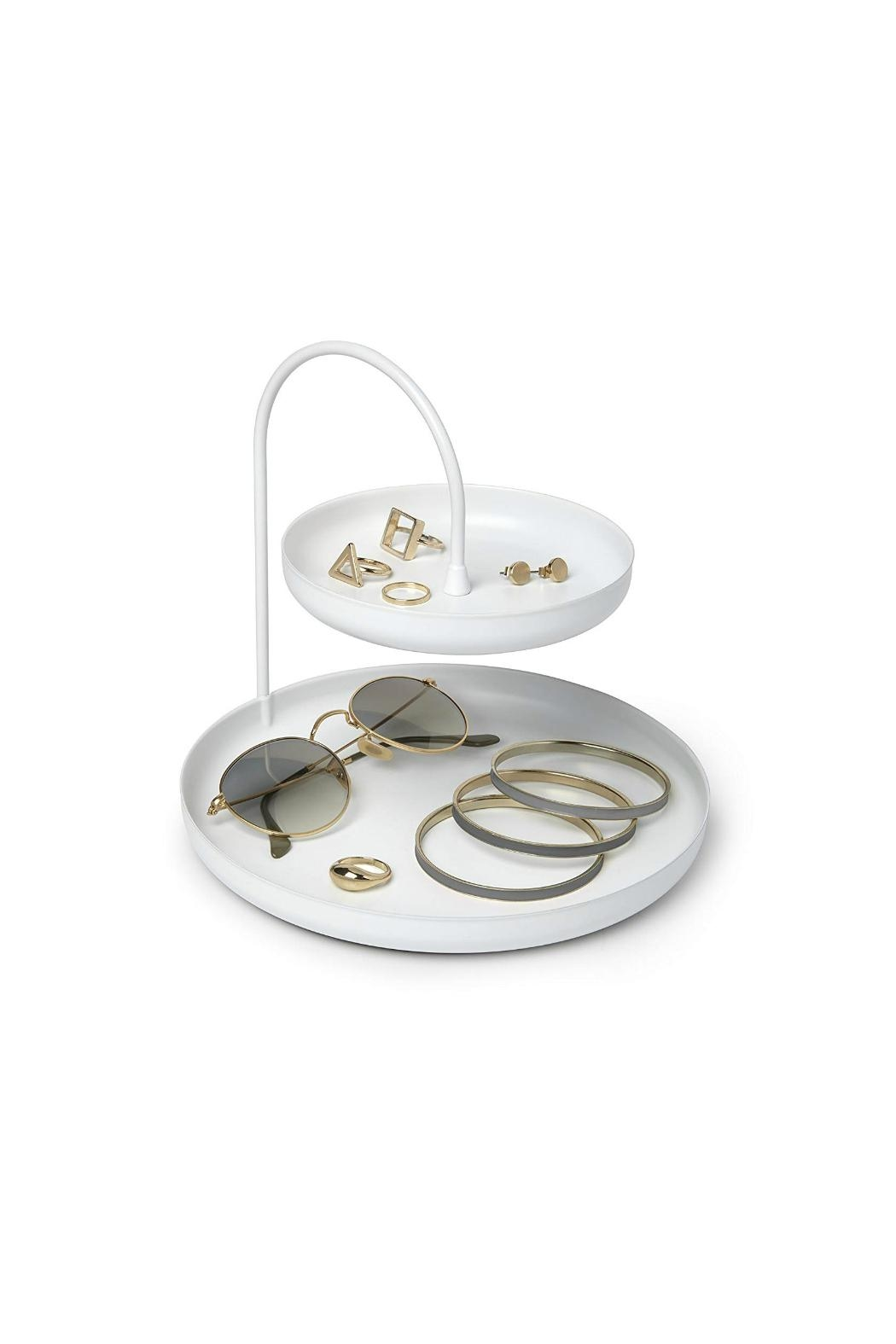 Umbra White Accessory Tray - Side Cropped Image