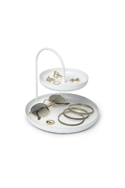 Umbra White Accessory Tray - Side cropped