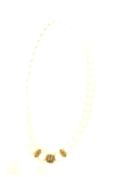 The Woods Fine Jewelry  White Agate 4 Bead Necklace - Alternate List Image