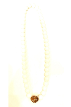 The Woods Fine Jewelry  White Agate Charm Necklace - Alternate List Image