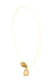 The Woods Fine Jewelry  White Agate Pendant Necklace - Product Mini Image