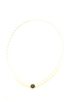 The Woods Fine Jewelry  White Agate Tiny Necklace - Alternate List Image