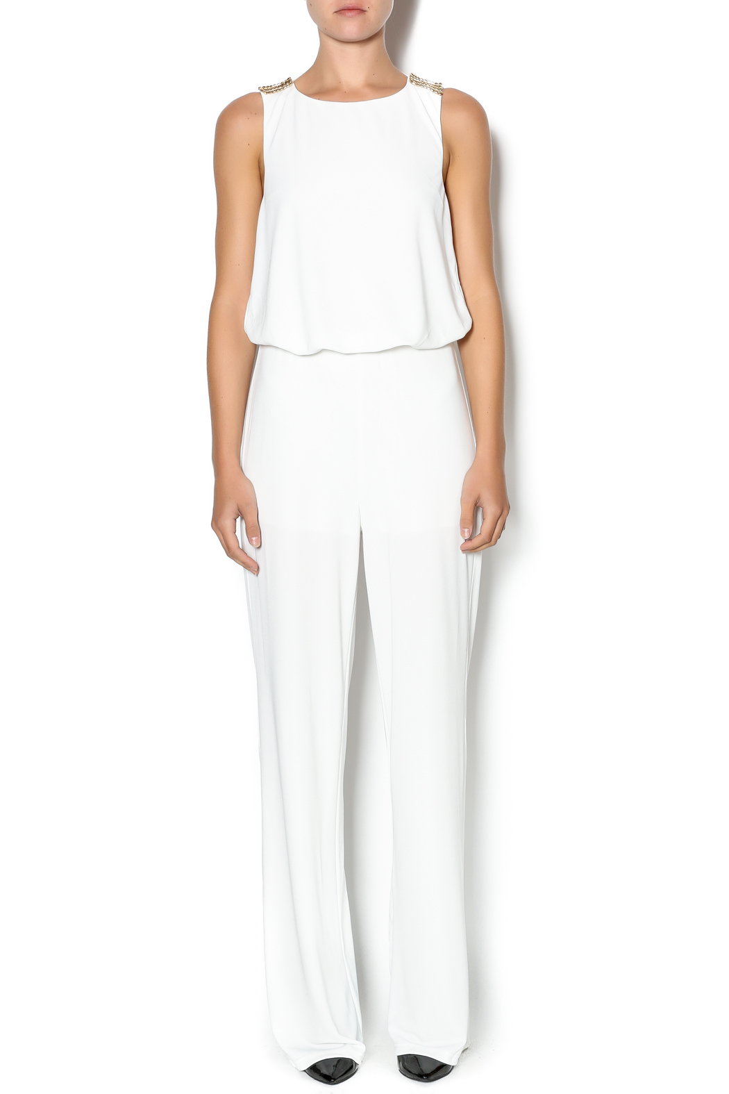 White And Gold Jumpsuit From Georgia By Opulence Nail Bar Boutique