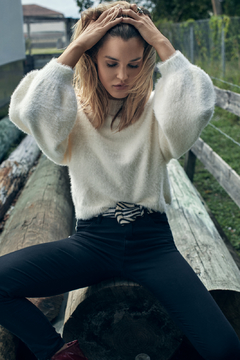 Elan White Angora Sweater - Alternate List Image
