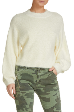 Elan White Angora Sweater - Product List Image