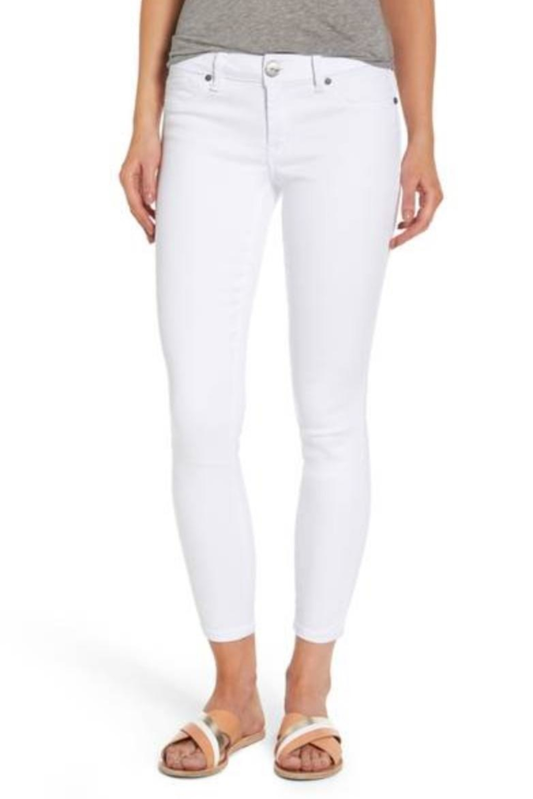 1822 Denim White Ankle Butter - Front Cropped Image