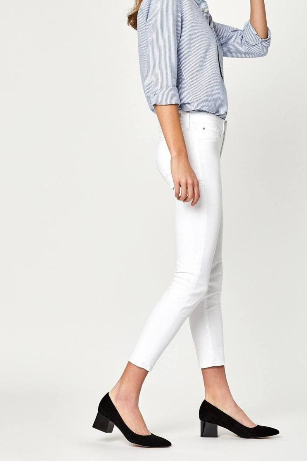 Mavi Jeans White Ankle Crop - Back Cropped Image