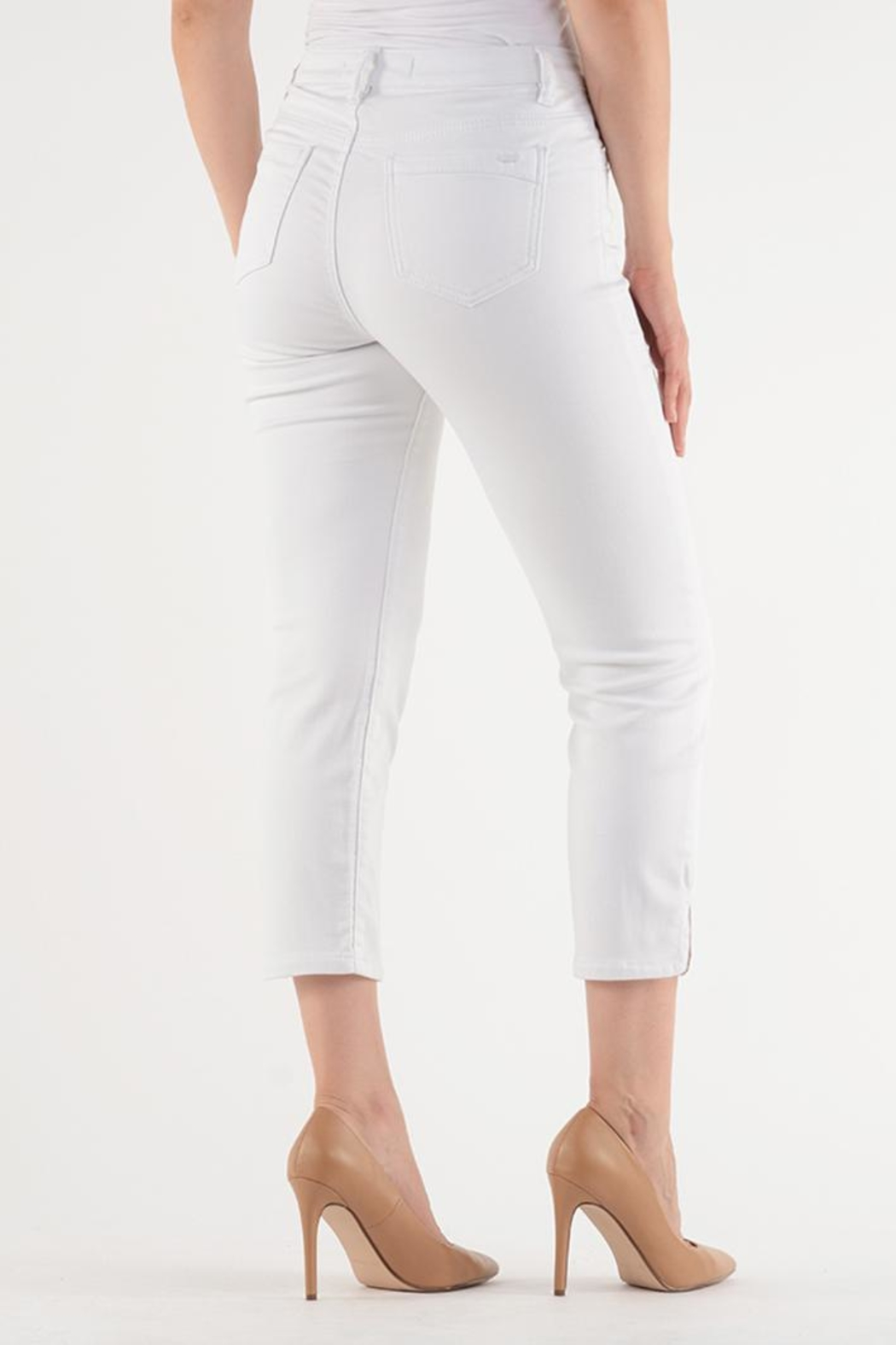 Lois Jeans White Ankle Jean - Front Full Image