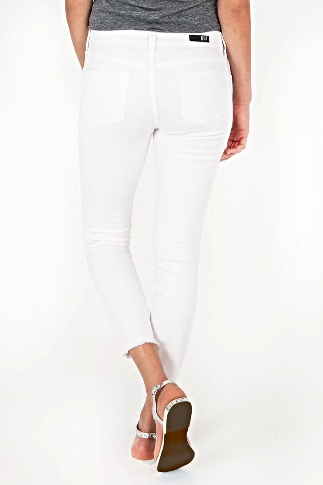 Kut from the Kloth White Ankle Skinny - Side Cropped Image