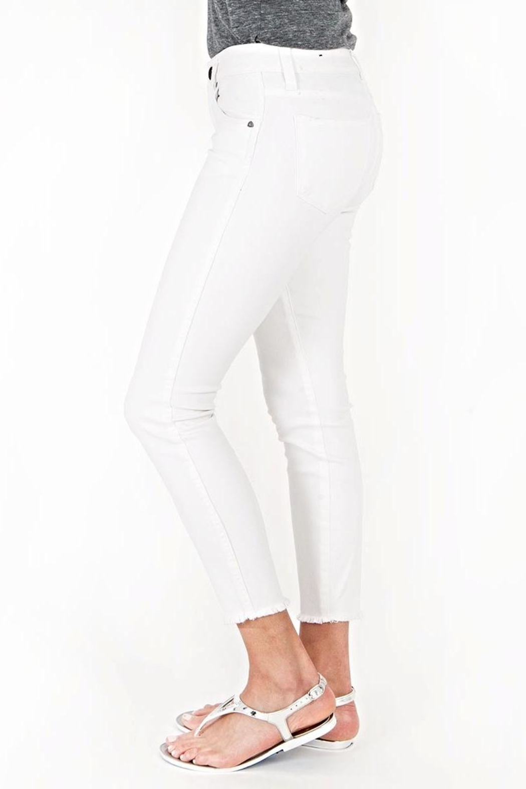 Kut from the Kloth White Ankle Skinny - Front Full Image