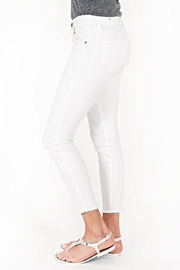 Kut from the Kloth White Ankle Skinny - Front full body