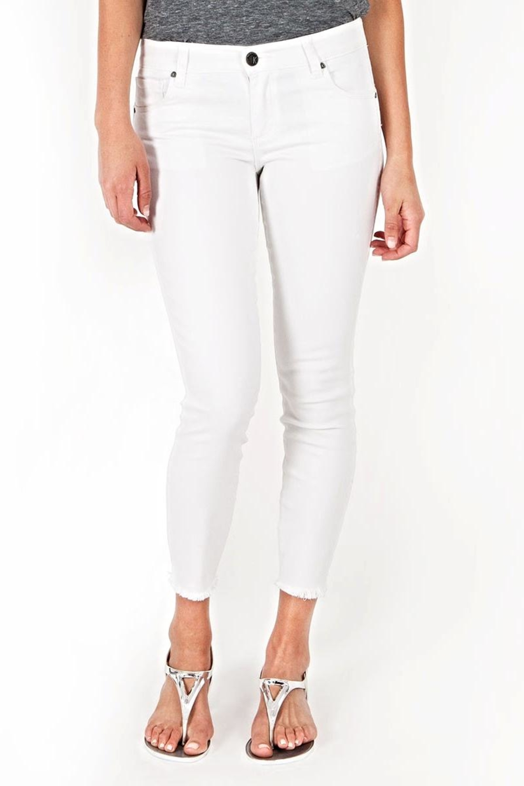 Kut from the Kloth White Ankle Skinny - Main Image