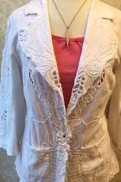 Shoptiques Product: White applique jacket