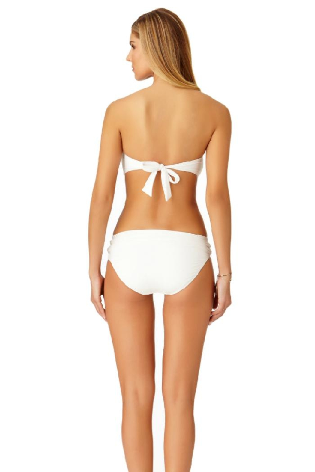 Anne Cole White Bandeau Top - Side Cropped Image