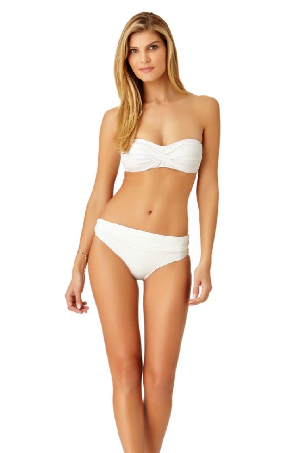 Anne Cole White Bandeau Top - Front Full Image