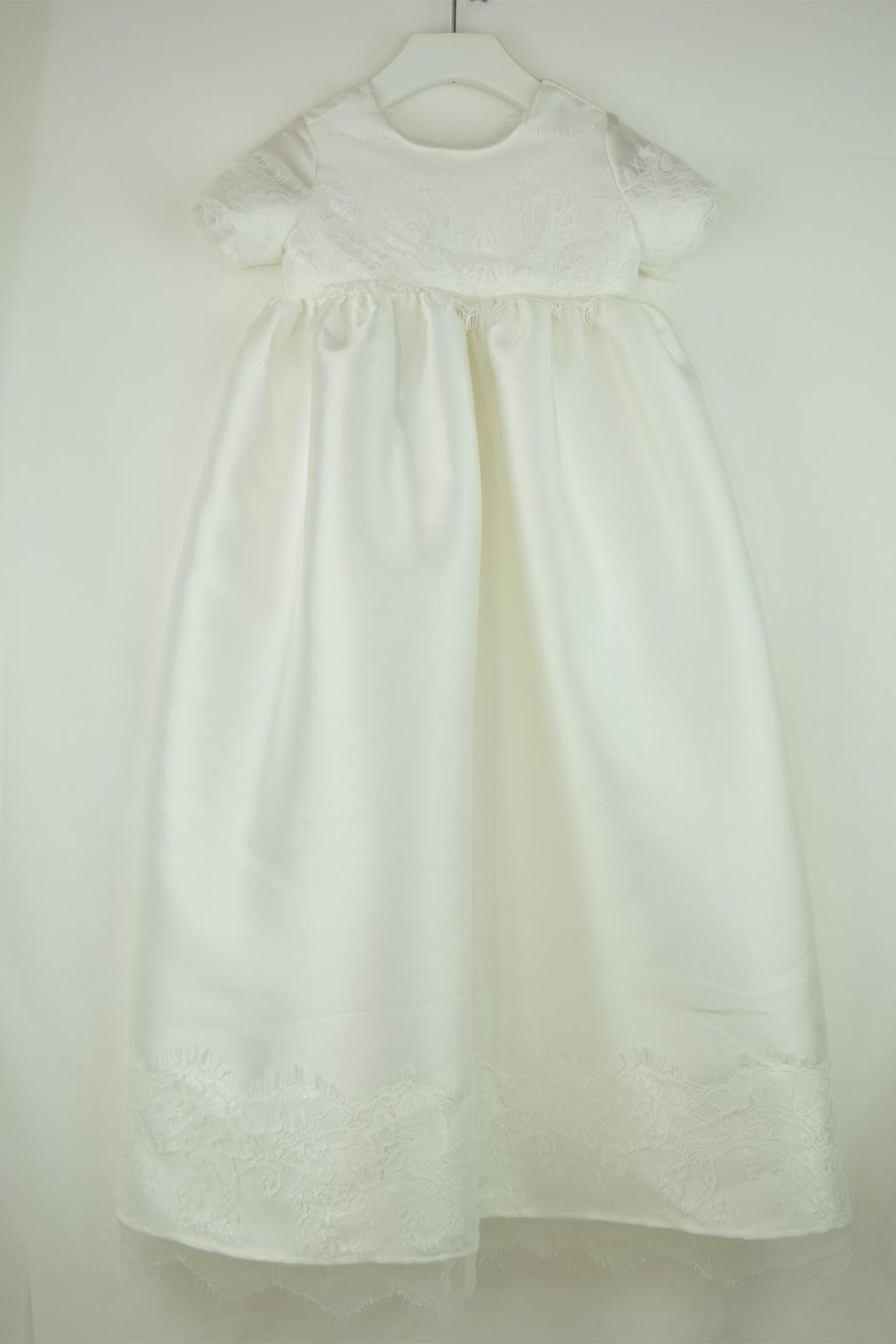 Cuore Baby White Baptism Gown - Front Full Image