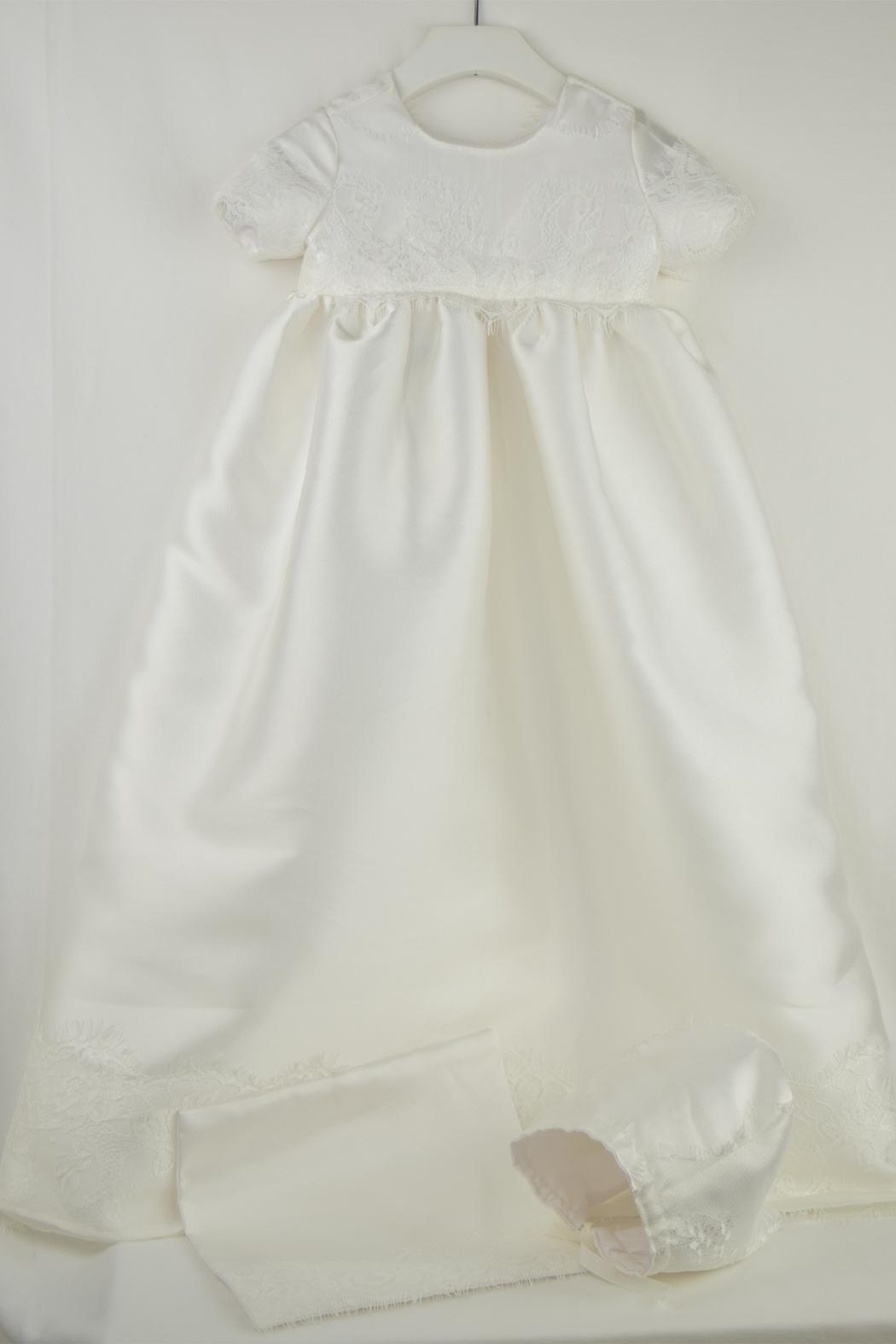 Cuore Baby White Baptism Gown - Main Image
