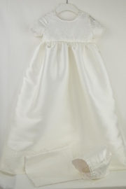Cuore Baby White Baptism Gown - Front cropped
