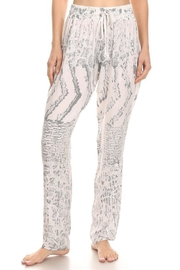 T-Party Fashion White Batik Straight-Leg-Pant - Product Mini Image