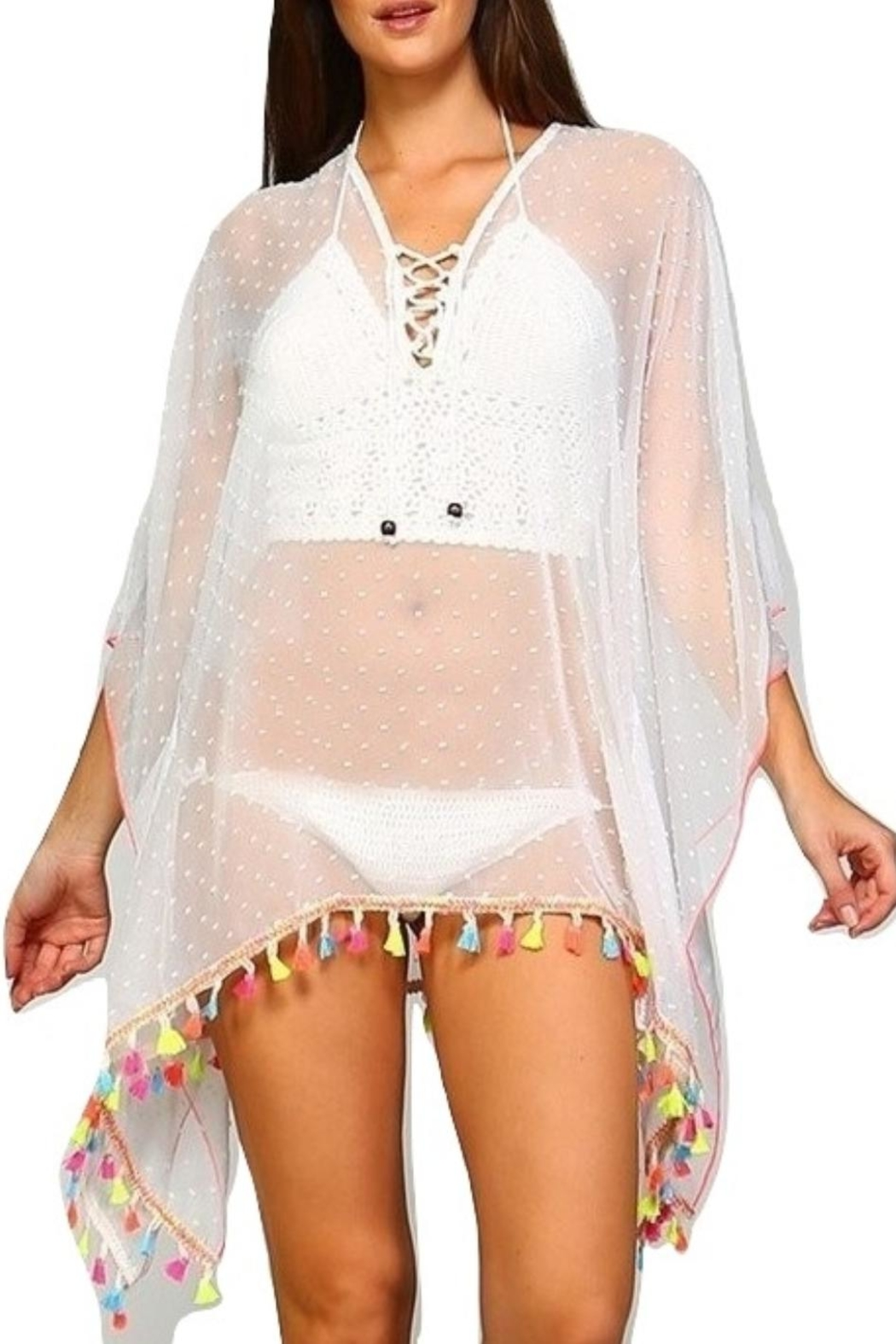 Dazzling White Beach Coverup - Front Cropped Image