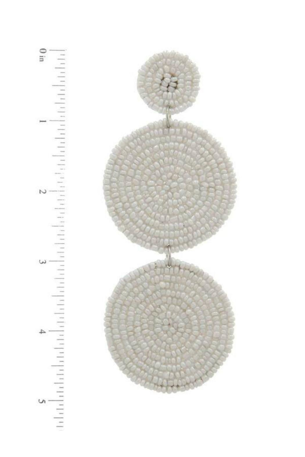 Minx White Beaded Earring - Side Cropped Image