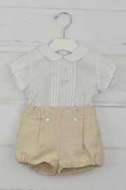 Granlei 1980 White & Beige Outfit - Front cropped