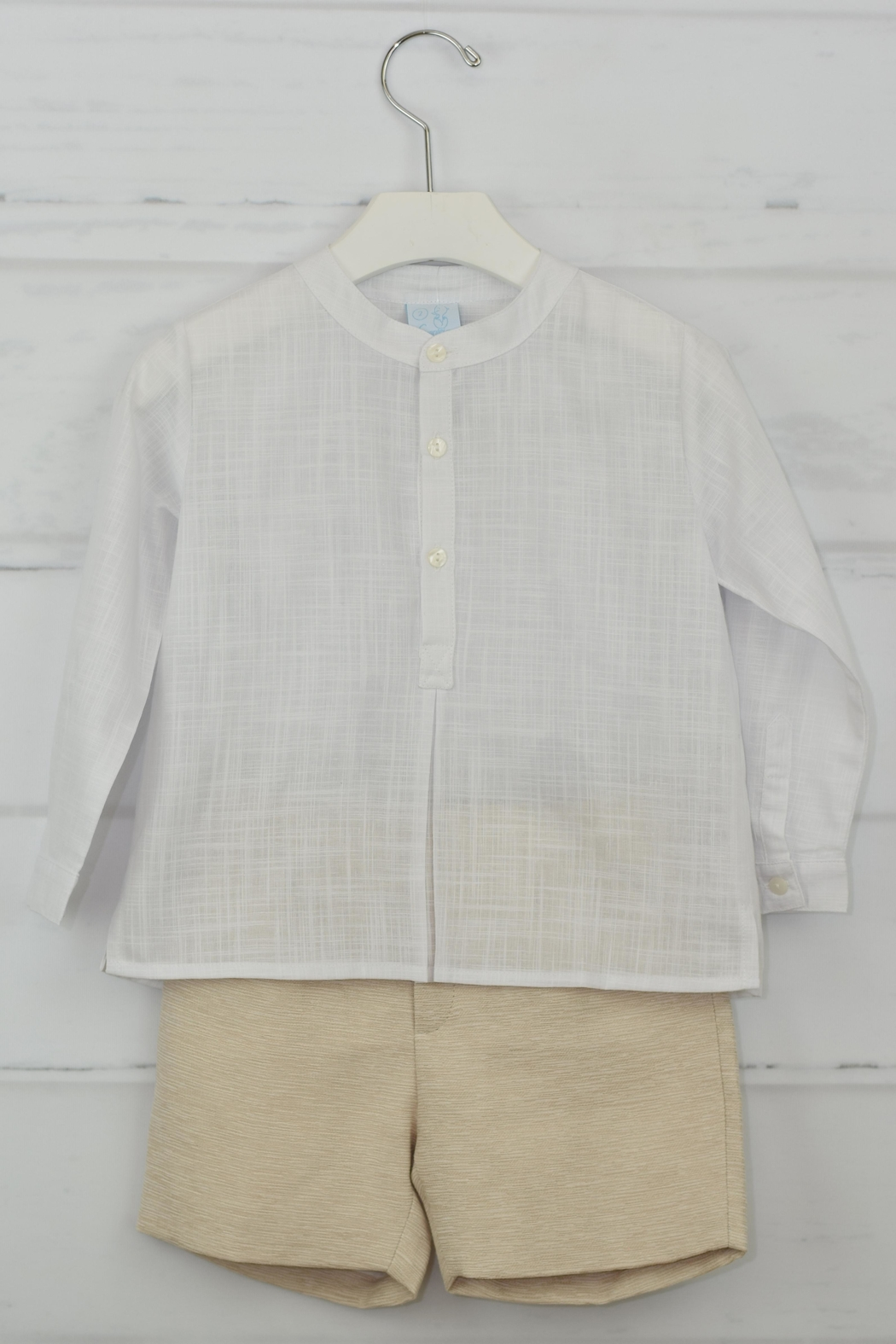 Granlei 1980 White & Beige Outfit - Front Full Image
